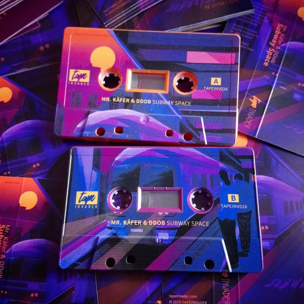Body-printed cassettes by Mr. Käfer & DDob